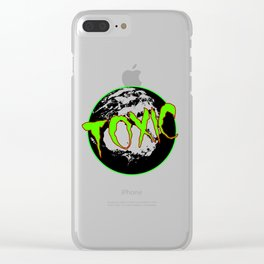 Toxic Earth Clear iPhone Case