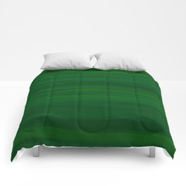 Emerald Green Stripes Abstract Comforters