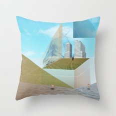 atmosphere 9 · Dreamland - Waiting for Rene Throw Pillow