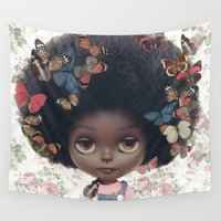 custom Wall Tapestries featuring ERREGIRO CUSTOM BLYTHE DOLL by Erregiro
