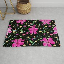 Pink petals spring flower pattern Rug