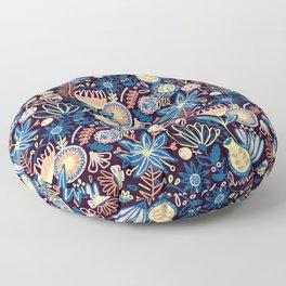 Dark Floral Floor Pillow