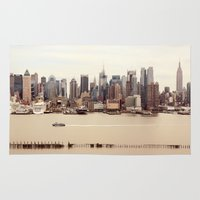nyc Area & Throw Rugs featuring NYC by Enkel Dika