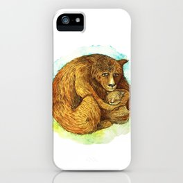 Mama and Baby Bear iPhone Case