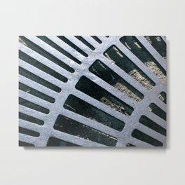 Silver Grate Metal Print