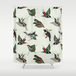 Paradise Birds Shower Curtain