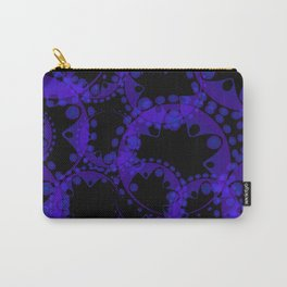 Abstract pattern of purple tentacles and bubbles on a black background. Carry-All Pouch