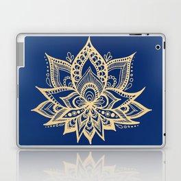 Gold and Blue Lotus Flower Mandala Laptop & iPad Skin