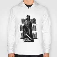 library Hoodies featuring Library Revenant by Sam Mameli