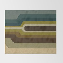 """Retro Lines"" Throw Blanket"