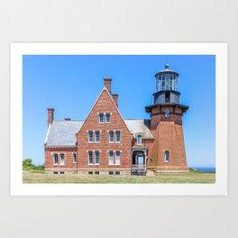 New England Lighthouse, Rhode Island, Block Island Art Print
