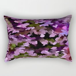Foliage Abstract Pop Art In Ultra Violet and Purple Rectangular Pillow