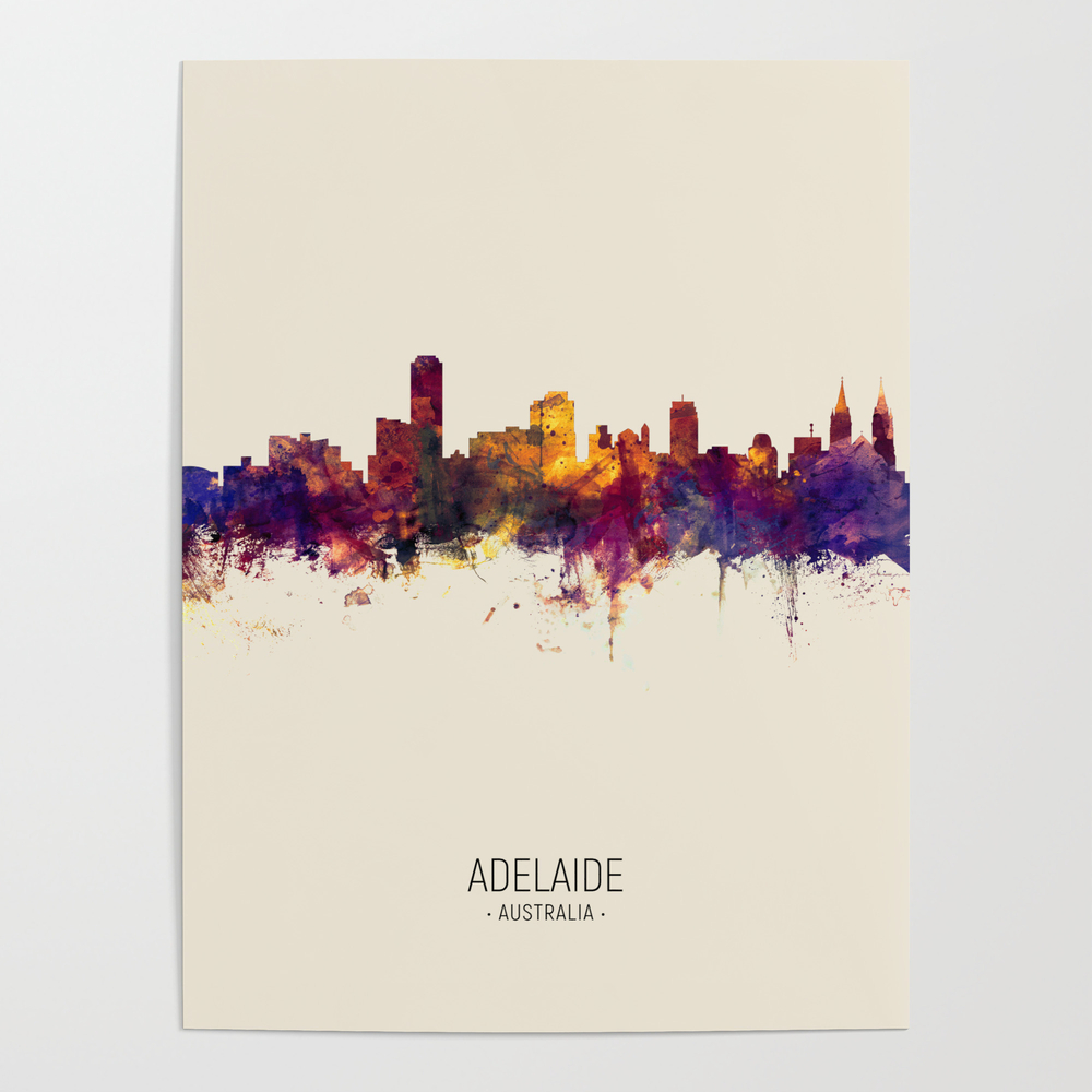 Adelaide Australia Skyline Poster by artpause