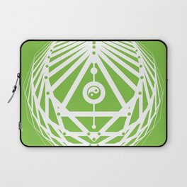 Radiant Abundance (green-white) Laptop Sleeve