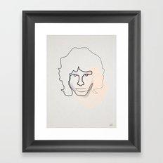 jm Framed Art Print