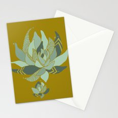 pattern succulent plant Stationery Cards