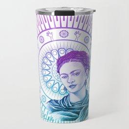 Frida Kahlo Feminist Bravery Travel Mug
