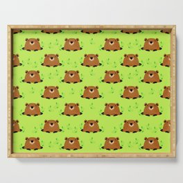 Adorable Groundhog Pattern Serving Tray