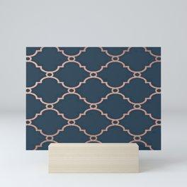 Satin Blue & Metallic Bronze Mini Art Print