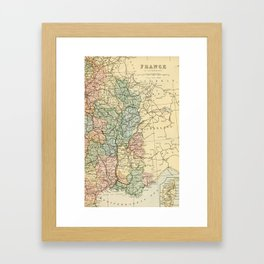 Old Map of the East of France Framed Art Print