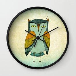 1970s Owl Wall Clock