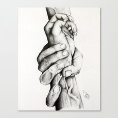 The Saving Hands Canvas Print