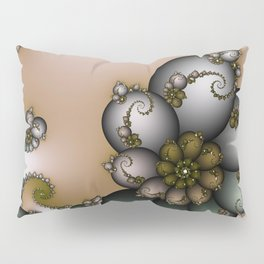 Trinket Flower Fractal Pillow Sham