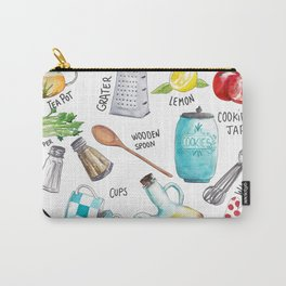 Kitchen set illustration Carry-All Pouch