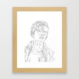 Joshua Hong Line Art Framed Art Print