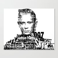 james bond Canvas Prints featuring James Bond by ThousandWords