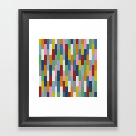 Bricks Rotate Framed Art Print