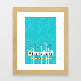 Park Entrance | Disney inspired Framed Art Print