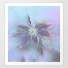 Neon Clematis Art Print