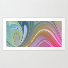 Rainbow Swirl  Art Print