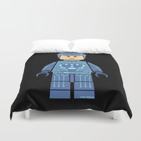 tron Duvet Covers featuring Tron Lego by Ant Atomic