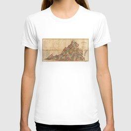 Map of Virginia (1871) T-shirt
