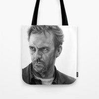 house md Tote Bags featuring House by robo3687