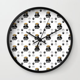 Funny Cat Pattern Wall Clock