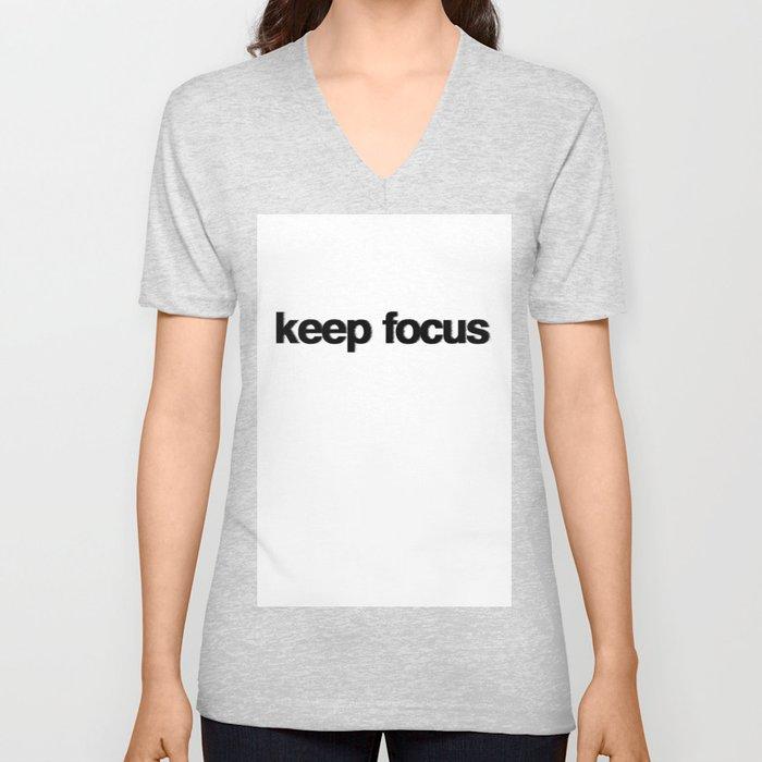 KEEP FOCUS Unisex V-Neck
