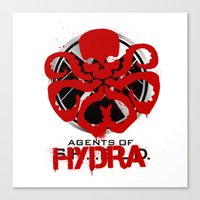 agents of shield Canvas Prints featuring Agents Of Hydra by monsieurgordon