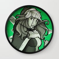 rogue Wall Clocks featuring Rogue by Miss-Lys