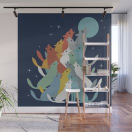 A Pack of Wolfs Wall Mural