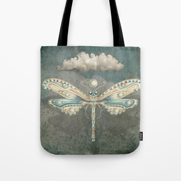 Dragonfly of the moon Tote Bag