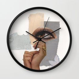 Eyes Open, Hands Clasped Wall Clock