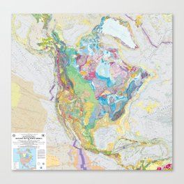 USGS Geological Map of North America Canvas Print