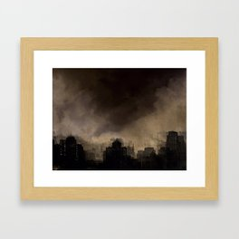 Glasgow dusk Framed Art Print