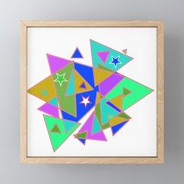 In triangle Framed Mini Art Print