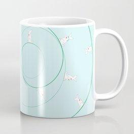 The Funny Bunnies in Baby Blue Coffee Mug