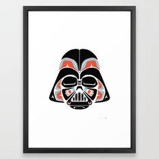 Death Mask - Alliance Is Rebellion - Darth Vader Framed Art Print
