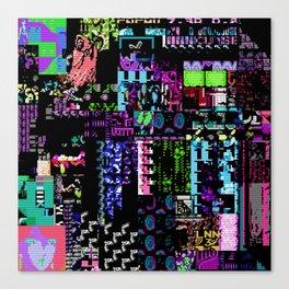 Glitchy Canvas Print